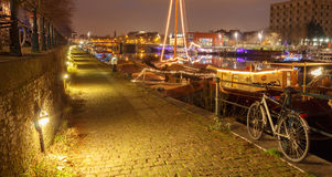 Gent. River Leie. Stock Photos