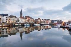 Gent. River Leie. Stock Photo