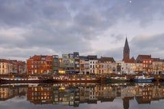 Gent. River Leie. Royalty Free Stock Photos