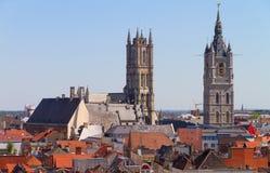 Gent-Skyline Lizenzfreie Stockfotos