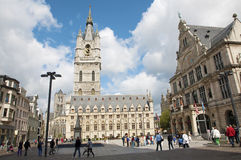 Gent - Town hall and square Stock Photography