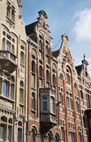 Gent - typical facades of houses Royalty Free Stock Photo