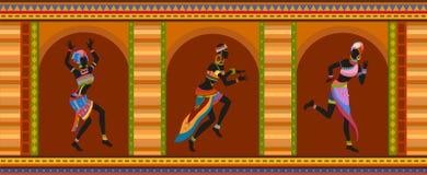 Gente étnica del africano de la danza libre illustration