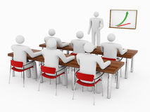 gente 3D en sala de clase Foto de archivo