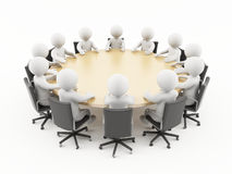 gente 3D en una reunión de negocios Imágenes de archivo libres de regalías