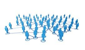 gente 3d y conexión stock de ilustración