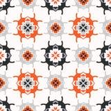 Gente abstracta Art Grid Orange de Geo y blanco Fotografía de archivo libre de regalías