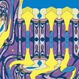 Gente abstracta del fondo con colores stock de ilustración