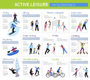 Gente activa Infographics del ocio ilustración del vector