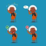 Gente afroamericana, signora anziana Immagini Stock Libere da Diritti
