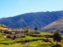 Gente agricola che vive nelle montagne immagini stock libere da diritti