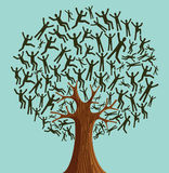 Gente aislada del árbol de la diversidad ilustración del vector