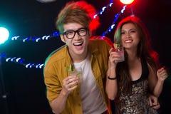 Gente alegre del partido Fotografía de archivo libre de regalías