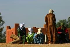 Gente algerina del deserto Fotografie Stock Libere da Diritti