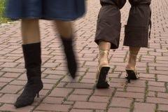 Gente ambulante Fotografia Stock