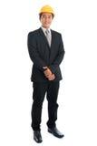 Gente asiatica con il casco di sicurezza Fotografia Stock
