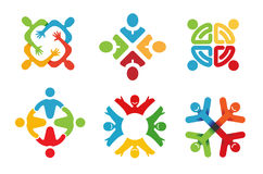 Gente astratta variopinta Logo Design Fotografie Stock Libere da Diritti