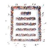 Gente bajo la forma de carpeta libre illustration