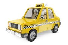 gente bianca 3D. Taxi illustrazione vettoriale