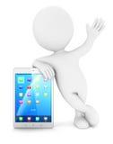 gente blanca 3d con una tableta Fotos de archivo libres de regalías