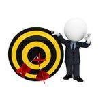 gente blanca 3d como hombre de negocios con las flechas en la blanco Imagen de archivo libre de regalías