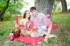 Gente cariñosa Foto de archivo libre de regalías