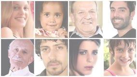 Gente, collage almacen de metraje de vídeo