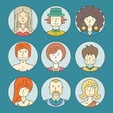 Gente colorida ilustración del vector