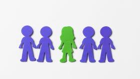 Gente Colourful della schiuma su fondo bianco Immagini Stock Libere da Diritti