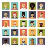 Gente común plana de Avatar del diseño del vector del sistema del icono Imagen de archivo