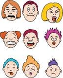 Gente con cara de pocos amigos ilustración del vector