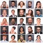 Gente con diversas emociones Imagen de archivo libre de regalías