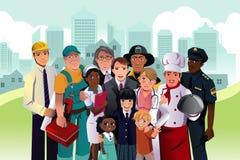 Gente con diverso empleo Imágenes de archivo libres de regalías
