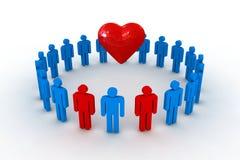 Gente con el corazón Fotos de archivo