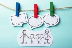 Gente con establecimiento de una red del social de las burbujas Imagen de archivo libre de regalías