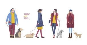 Gente con los perros Imagen de archivo libre de regalías
