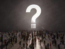 Gente con preguntas representación 3d ilustración del vector