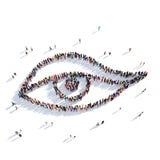 Gente 3d de la belleza del ojo Fotografía de archivo