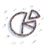 Gente 3d de los gráficos de las cartas Ilustración del Vector