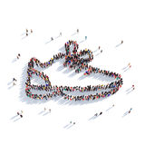 Gente 3d de los zapatos de las zapatillas de deporte ilustración del vector