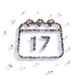Gente 3d del día de fiesta del calendario Imagenes de archivo