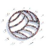 Gente 3d del deporte del voleibol Ilustración del Vector