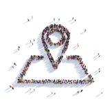 Gente 3d del indicador del mapa ilustración del vector