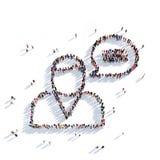 Gente 3d del mensaje de la charla del hombre Imagen de archivo libre de regalías