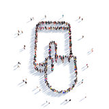 Gente 3d del tacto de la mano del teléfono Foto de archivo