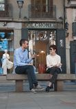 Gente de ciudad de Lisboa Foto de archivo