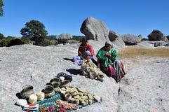 Gente de cobre del tarahumara de la barranca Fotos de archivo