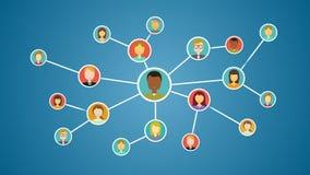 Gente de conexión, red del negocio medios servicio social libre illustration