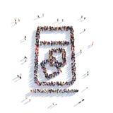 Gente de cristal 3d del cóctel Imagenes de archivo