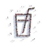 Gente de cristal 3d del cóctel Fotos de archivo libres de regalías
